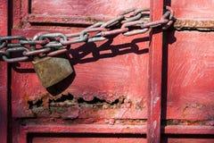 Rusty Metal Lock immagini stock