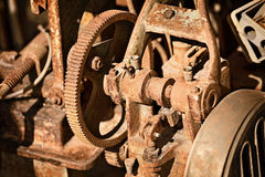 Rusty metal mechanism Stock Images