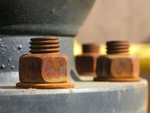 Rusty metal nut Stock Photo