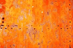 Rusty metal with old cracked paint Stock Images