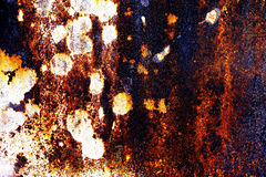 Rusty metal with old cracked paint Royalty Free Stock Image