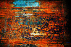 Rusty metal with old cracked paint Royalty Free Stock Images