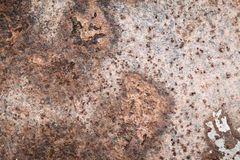 Rusty metal old surface wall. Stock Images