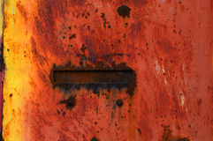 Rusty metal and paint background Royalty Free Stock Photos