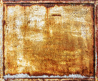 Rusty metal panel Stock Images