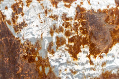 Rusty metal panel beside the car Royalty Free Stock Photos