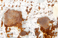 Rusty metal panel beside the car Stock Photos