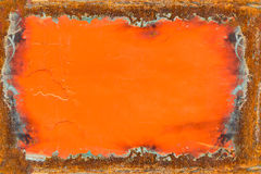 Rusty metal panel beside the car. Texture, background, banner Royalty Free Stock Photo