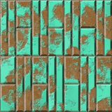 Rusty metal panels seamless generated hires texture Stock Image