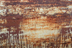 Rusty metal with peeling paint Stock Images