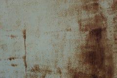 Rusty Metal Pilling Paint Surface-Textuur Achtergrondfotoschot Royalty-vrije Stock Afbeelding