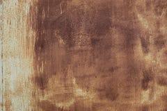 Rusty Metal Pilling Paint Surface-Textuur Achtergrondfotoschot Royalty-vrije Stock Foto's