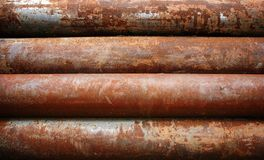 Rusty metal pipe Stock Photo