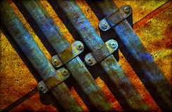 Rusty metal pipes Stock Image