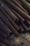Rusty metal pipes Royalty Free Stock Images