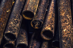 Rusty metal pipes Stock Photo