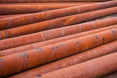 Rusty metal pipes stack Royalty Free Stock Photography
