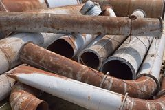 Rusty metal pipes Royalty Free Stock Photos