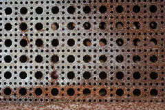 Rusty metal plank Stock Images