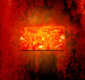 Rusty metal plaque Royalty Free Stock Photo