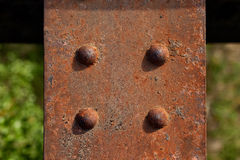 Rusty Metal Plate Royaltyfria Bilder