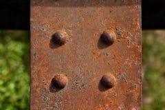 Rusty Metal Plate Royaltyfria Bilder