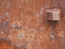 Rusty metal plate. Close-up detail of rusty metal plate royalty free stock image