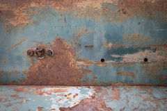 Rusty metal plate corroded aged texture Royalty Free Stock Photography