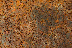 Rusty Metal plate, Grunge texture or background Stock Photo