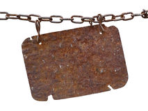 Rusty metal plate Stock Photo