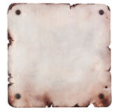 Rusty metal plate isolated Royalty Free Stock Photos