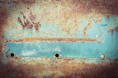 Rusty metal plate panel corroded texture Stock Image