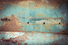 Rusty metal plate panel corroded texture Royalty Free Stock Images
