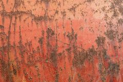 Rusty Metal Plate Texture rougeâtre photographie stock