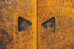 Rusty metal plate texture Royalty Free Stock Images