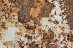 Rusty Metal-Platte, Schmutzbeschaffenheit oder Hintergrund Lizenzfreie Stockfotografie