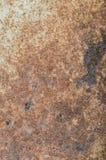 Rusty Metal-Platte, Schmutzbeschaffenheit oder Hintergrund Lizenzfreie Stockfotos