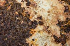 Rusty Metal-Platte, Schmutzbeschaffenheit oder Hintergrund Stockfotografie
