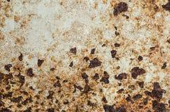 Rusty Metal-Platte, Schmutzbeschaffenheit oder Hintergrund Lizenzfreies Stockbild