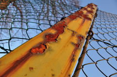 Rusty metal pole. Severe rust damage on a metal pole Stock Images