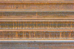 Rusty  metal railway background Royalty Free Stock Photo