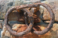 Rusty metal rings Royalty Free Stock Photo