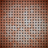 Rusty metal with rivet grid Royalty Free Stock Photography