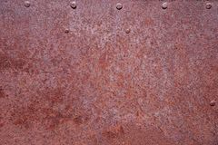 Rusty Metal With Rivets Stock Photo