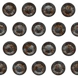 Rusty metal rivets Royalty Free Stock Photos
