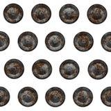 Rusty metal rivets Royalty Free Stock Photos