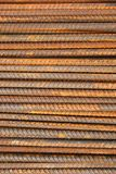 Rusty Metal Rods Background. On Construction Site Royalty Free Stock Photos