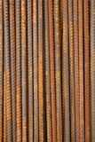 Rusty Metal Rods Background. On Construction Site Royalty Free Stock Image