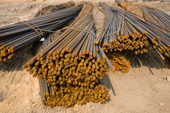 Rusty metal rods on site Royalty Free Stock Photos