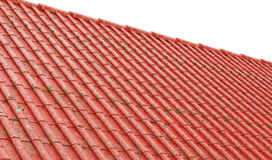Rusty metal roofing roof as background 3D render.  royalty free illustration